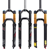【US STOCK】 LUTU 26/27.5/29 Air MTB Suspension Fork, Rebound Adjust Straight Tube 28.6mm QR 9mm...
