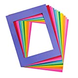 Hygloss Products Bright Specialty Frames Cardstock Paper Frame-Large-11 x 14 Inches-Center Size of 8 x 10 Inches-4 Colors-48 Pack, Large (11' x 14'), 12 Assorted Colors 48 Count