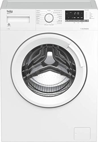 Beko WML71434NGR Waschmaschine/Restzeitanzeige und Schleuderwahl/ 1400 U/min/Pet Hair Removal/Watersafe/ 7 kg, Weiß