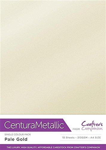 Centura Metallic Einfarbige Weißgold 10 Bogenpacken-Pale Gold, Cardstock, 34.4 x 22.5 x 0.5 cm