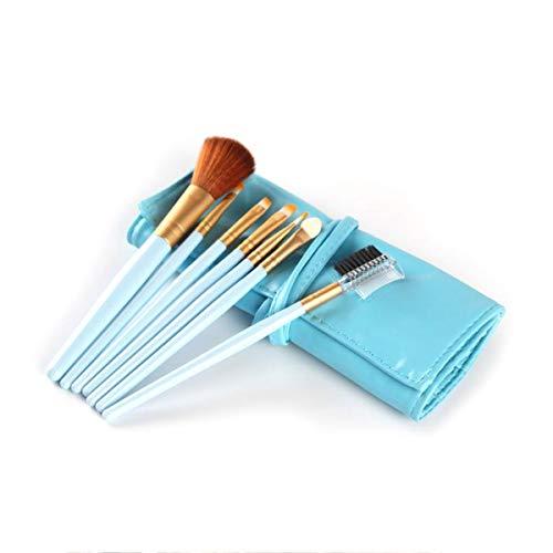 SNUIX Pinceaux de maquillage avec sac de rangement cosmétiques Brosses Kit Fard à paupières poudre fard à joues brosse de Pu avec sac cosmétique, 7Pcs (Couleur : As Show, Size : One Size)