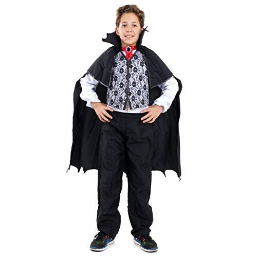 Sulamericana Fantasias Vampiro Twilight Infantil, P 3/4 Anos, Preto/Branco