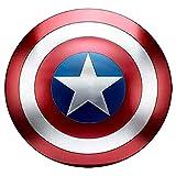 Escudo Capitan America Metal 1: 1 Apoyos De PelíCula Adulto NiñOs CapitáN AméRica Shield Vengadores Retro Wall Creative Shield Bar DecoracióN Reloj De Pared