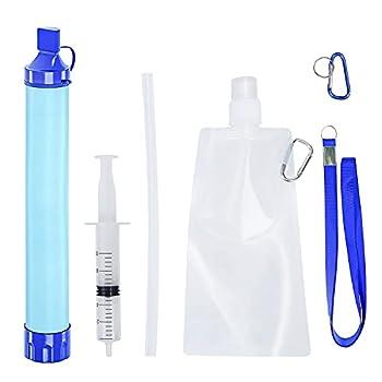 Balcony & Falcon Mini filtre à eau portable pour le camping, la randonnée, le camping, les voyages, les sports de plein air et les urgences, élimine les bactéries et les protozoaires
