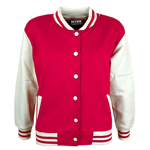 A2Z 4 Kids A2Z 4 Kids Kinder Mädchen Jungen BASEBALL - B.B Plain Jacket Pink 7-8