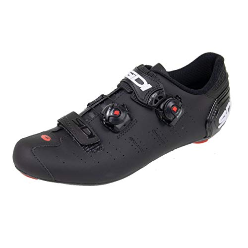 Ergo 5 Carbon Road Cycling Shoes (46.5, Matte Black/Black)