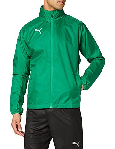 PUMA Liga Training Rain Core, Giacca Uomo, Verde (Pepper Green/White), M