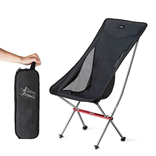 Silla plegable portátil al aire libre ultra ligera de aleación de aluminio plegable silla de la luna camping playa pesca silla