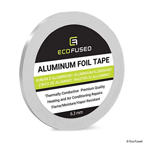 Cinta de Papel Aluminio Premium - para Reparaciones de Calentadores y Aires acondicionados - Térmicamente conductivo - Resistente el Fuego/Humedad/Vapor - Refleja el Calor y la luz