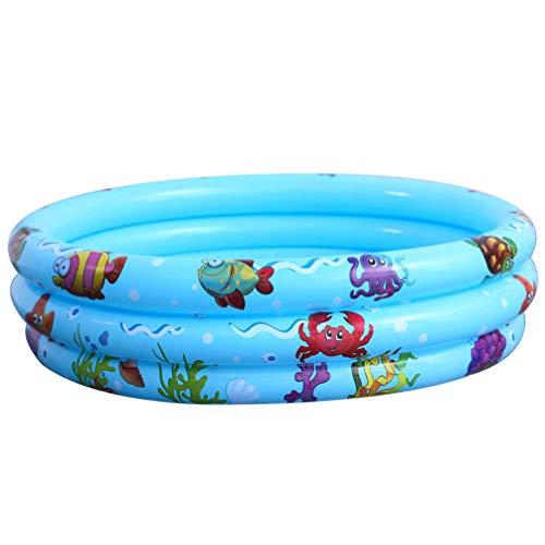 DOITOOL Piscina Inflable para Niños Piscina Inflable para Niños de 3 Círculos de Círculos para Fiesta Acuática de Verano Piscina para Bebés de Agua Piscina Familiar (35X11)
