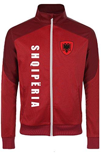 aprom Albanien Kinder Sport Jacke - Sport Fussball Trikot Look (128)