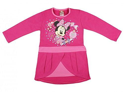 Disney Baby Mädchen Lang-arm Freizeit-Kleid mit schönem Rock mit Minnie Mouse in Gr. 74 80 86 92 98 104 110 116 122,1 2 3 4 5 6 7 Jahre Farbe Modell 13, Größe 104