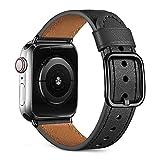 Oielai Kompatibel mit Apple Watch Armband 40mm 38mm Damen Männer, Top Grain Echte Lederarmband mit...