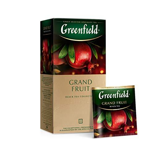 Tee Greenfield herbal GRAND FRUIT Schwarztee mit Granatapfel-Aroma 25 Beutel