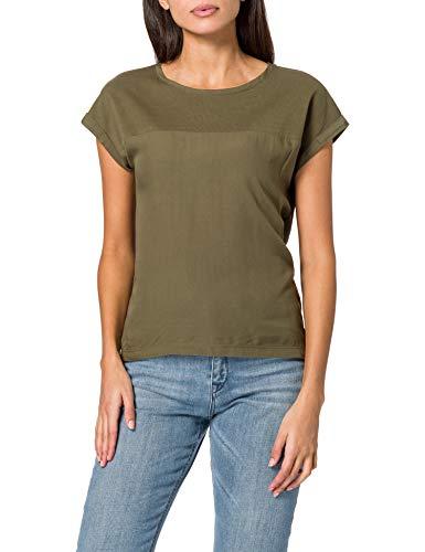 edc by Esprit 021CC1K308 Camiseta, 350/verde Caqui, L para Mujer
