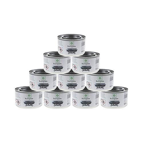 10 x Fuduu Brennpaste Sicherheisbrennpaste 200 g Chafing Dish Brennpaste für Warmhaltebehälter