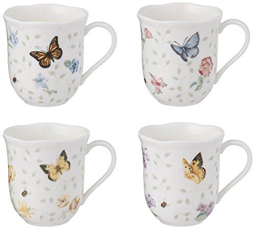 Lenox Butterfly Meadow Petite 4-Piece Assorted Mug Set, 2.0 LB, Multi