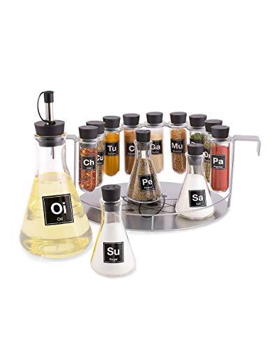 Visit the Chemist's Spice Rack, 14 Piece Chemistry Spice Rack Set on Amazon.