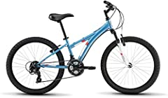 Shimano Tourney 3x7 speed drivetrain has 21 speeds, allowing small riders to conquer dirt trails Hl Zoom 40mm travel fork soaks up rocks and roots just like on a bike for Big kids Linear pull brakes have adjustable-reach levers to keep them safe and ...