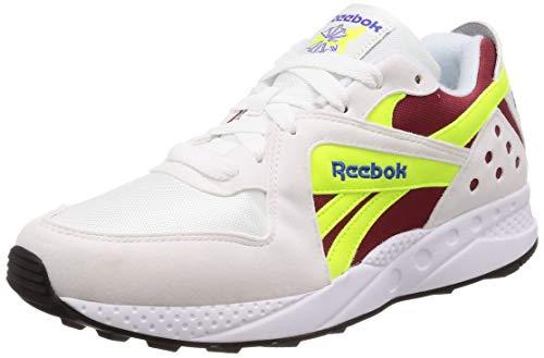 Reebok Unisex-Erwachsene Pyro Laufschuhe, Mehrfarbig (Wht/Meteor Red/Neon Yellow/Crushed Cobal 000), 45.5 EU
