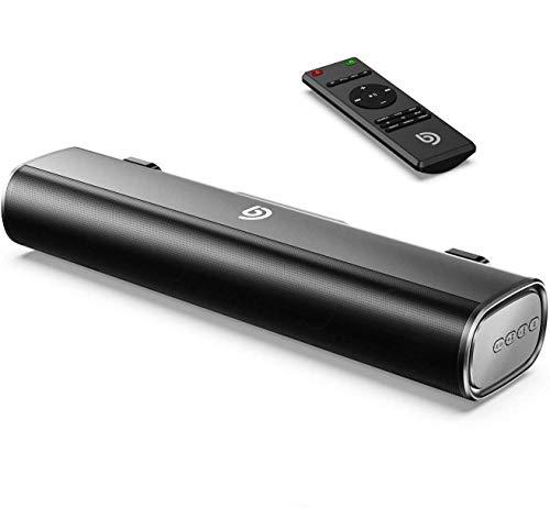 Bomaker Mini Soundbar klein, Tragbare PC Soundbar Bluetooth 5.0 16 Zoll Optische/USB/AUX Anschlüsse für Monitore,PC, Laptop, Handy