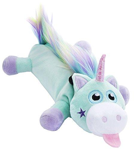 FRINGOO Estuche para lápices y material escolar con forma de unicornio, de tela de peluche suave