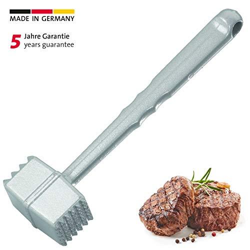 Westmark Fleischhammer, Länge: 21,5 cm, Aluminium-Druckguss, Rostfrei, Robusto, Silber, 62102260