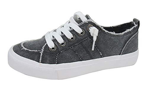 Jellypop Women's Kory Sneaker, Charcoal Stone Wash, 9.5