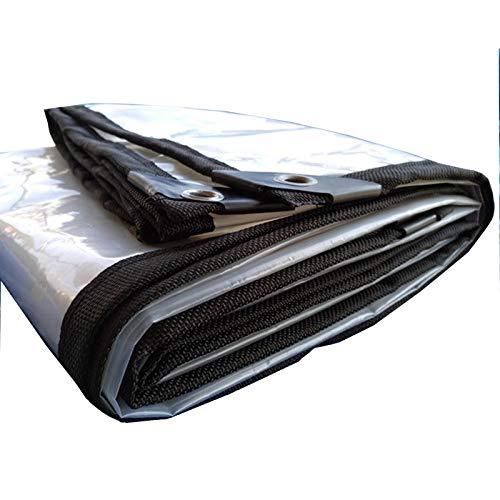 GHHZZQ Lona Alquitranada Película Plástica con Ojal de Metal Antioxidante Durable Al Aire Libre Balcón Impermeable Interior Mueble A Prueba de Polvo 20 Tamaños (Color : Clear, Size : 5x10m)