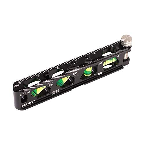 Torpedo Level, Magnetic Conduit Level with 4 Vials, V-Groove and Magnet Track, Aluminum Alloy Construction, High Viz Orange (6 inch)