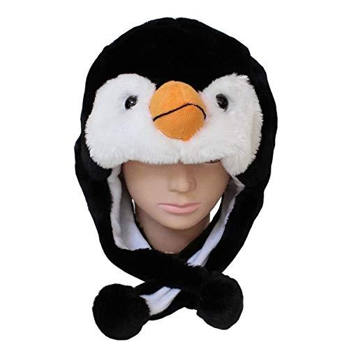 N-K pulabo Exquisit Niedlichen Tier Hut Cartoon Pinguin Kappe Plüsch Flauschige Kinder präsentieren Winter Cosplay Maske Schal Ohrenklappe robust und kostengünstig