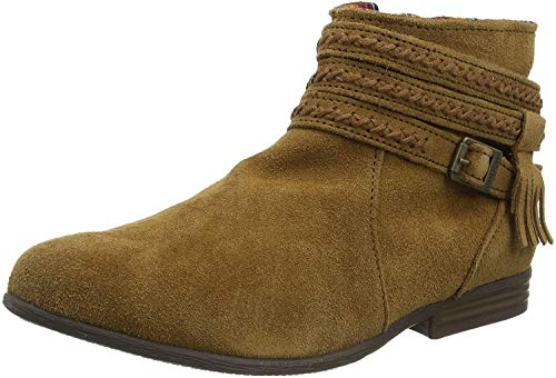 Minnetonka Women's Dixon Suede Ankle Boots 10 M Dusty Brown