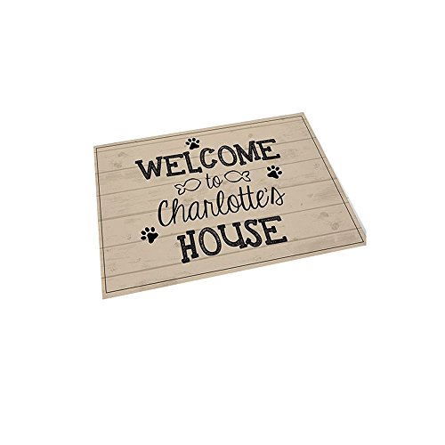 GiftsForYouNow Welcome Personalized Pet Feeding Mat