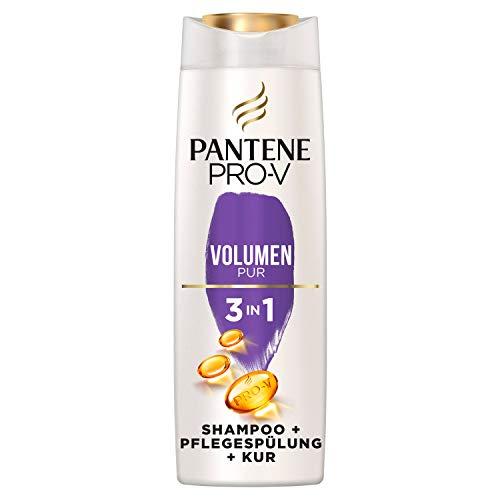 Pantene Pro-V Volumen Pur 3in1 Shampoo, Pflegespülung und Kur, für Sofortiges Volumen, für Feines, Plattes Haar, Volumen Haare, Conditioner, Haarpflege Glanz, Haarkur,...