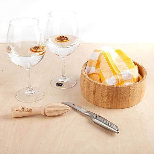 FranquiHOgar Set para Preparar cócteles de Bambú | Regalo para Hombre o Mujer - 2 Copas, exprimidor