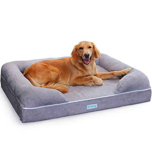 PLS Birdsong Rüya - Large Dog Bed with Triple-Layer Orthopedic Foam, Memory Foam Dog Bed, Large 36
