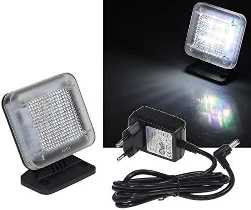 LED TV Simulator mit 12 LEDs I 3 wählbare Programme I Simuliert mit Licht Anwesenheit I Einsatz als Einbruchschutz I Fernsehsimulator I mit Netzteil
