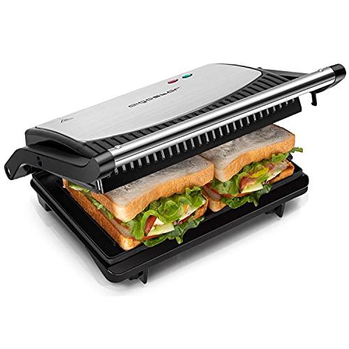Aigostar York – Appareil grill, paninis, sándwichs 0% BPA de