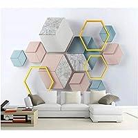 Iusasdz カスタム壁紙3Dモダンミニマリスト幾何学的大理石モザイクテレビ背景壁リビングルーム寝室の壁紙350X250Cm