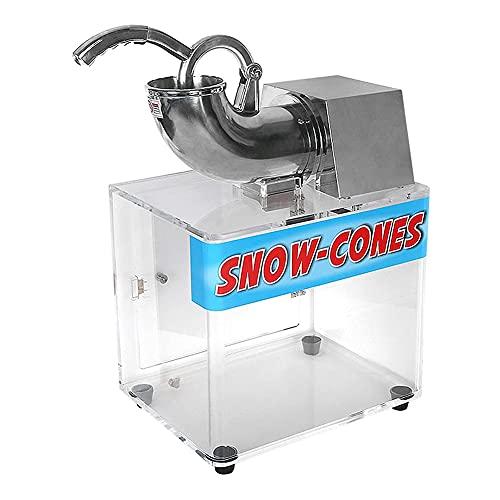 MNSSRN Trituradora de Hielo acrílico de Gran Capacidad eléctrica, máquina de Doble Cuchilla/h, máquina de Cono de Nieve, máquina de Helados, máquina con Frost frostales