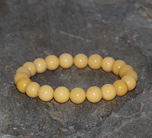Beewax Jade Bracelet 8mm Yellow Jade Beaded Natural Jade Untreated Beads Genuine Gemstone Bracelet Gift Bracelet Stacking Bracelet Boho