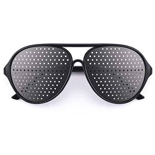 webbomb Loch Brille Rasterbrille Augentrainer Lochbrille pinhole glasses Gitterbrille Entspannung, mit faltbaren Bügeln, Modell P
