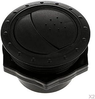 Saída de ventilação de ar redonda com teto lateral e trailer RV ajustável para carro Baoblaze preto