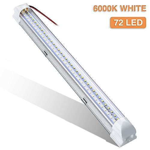 Audew LED-Leiste mit 72LEDs, 34,5cm, mit Ein-/Aus-Schalter, Autoinnenbeleuchtung, DC 12V, Weiß 1 Stück