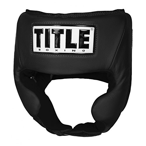 Title USA Boxing Amateur Competition Headgear (w/Cheeks), Black, Small