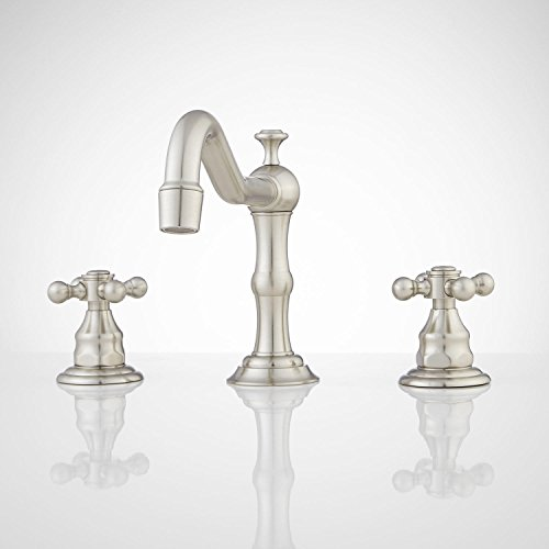 Signature Hardware 927248 Barbour 1.2 GPM Widespread Bathroom Faucet with Pop-up Drain Assembly