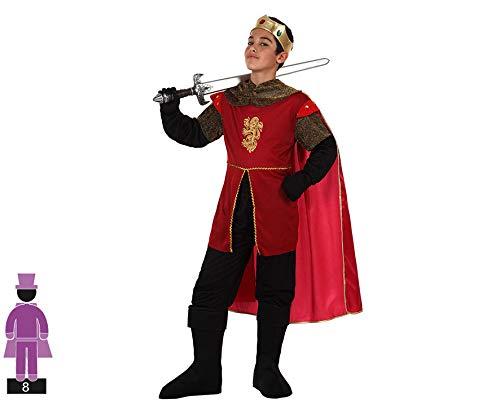Atosa-94252 Costume-Déguisement Roi Médiévale 3-4 Ans, 94252, Rouge