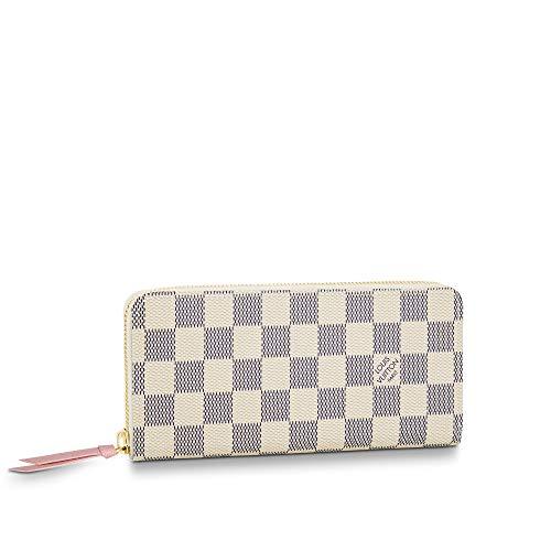 Louis Vuitton Clemence Wallet Damier Azur Canvas (Rose Ballerine)