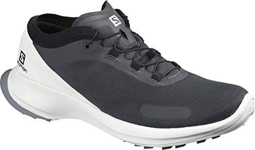 Salomon Herren Trail Running Schuhe, SENSE FEEL, Farbe: grau (India Ink/White/Flint Stone) Größe: EU 42 2/3