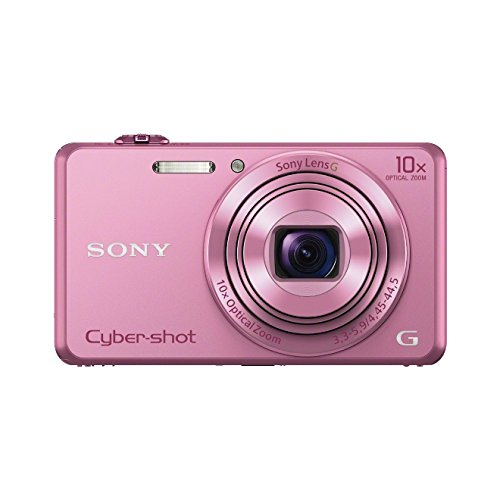 Sony DSC-WX220 Digitalkamera (18 Megapixel, 10-fach opt. Zoom, 6,8 cm (2,7 Zoll) LCD-Display, NFC, WiFi) pink